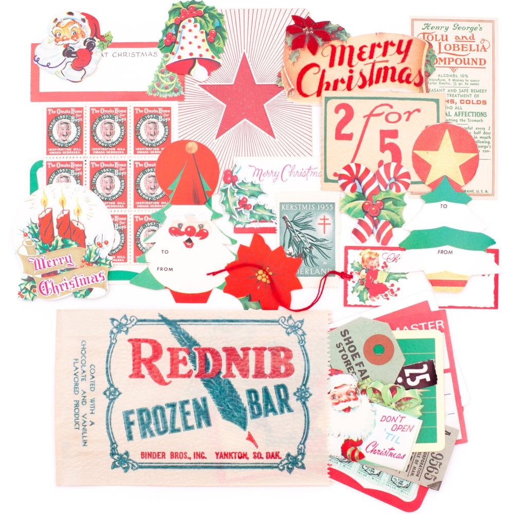 Image of Christmas Paper Pack in Ice Cream Bag
