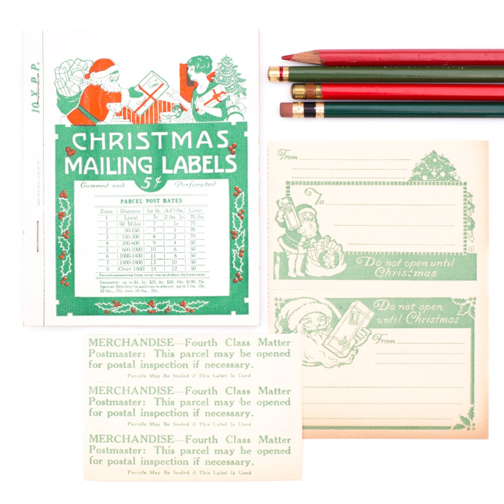 Image of Christmas Mailing Labels Booklet