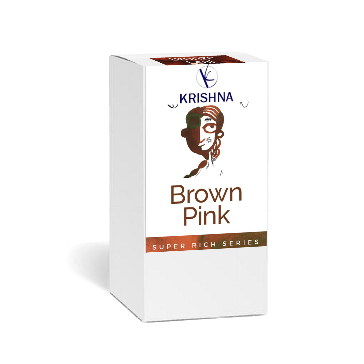 Image of Krishna Inks - Super Rich Series BROWN PINK 20ml