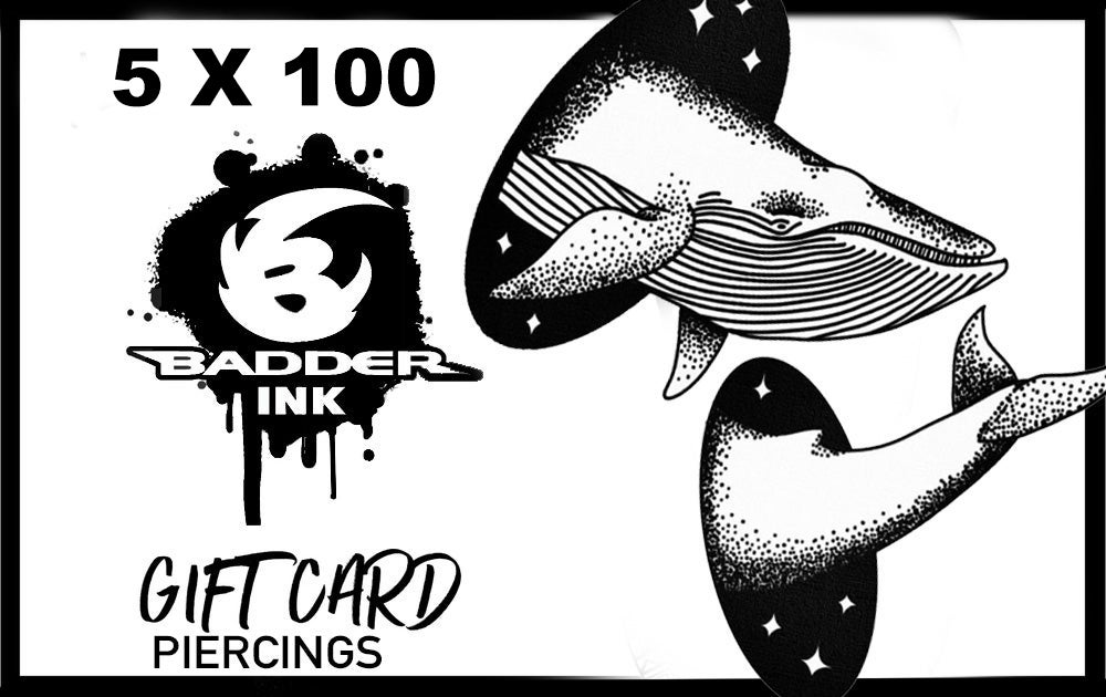 Image of GIFT CARD PIERCING 5X100