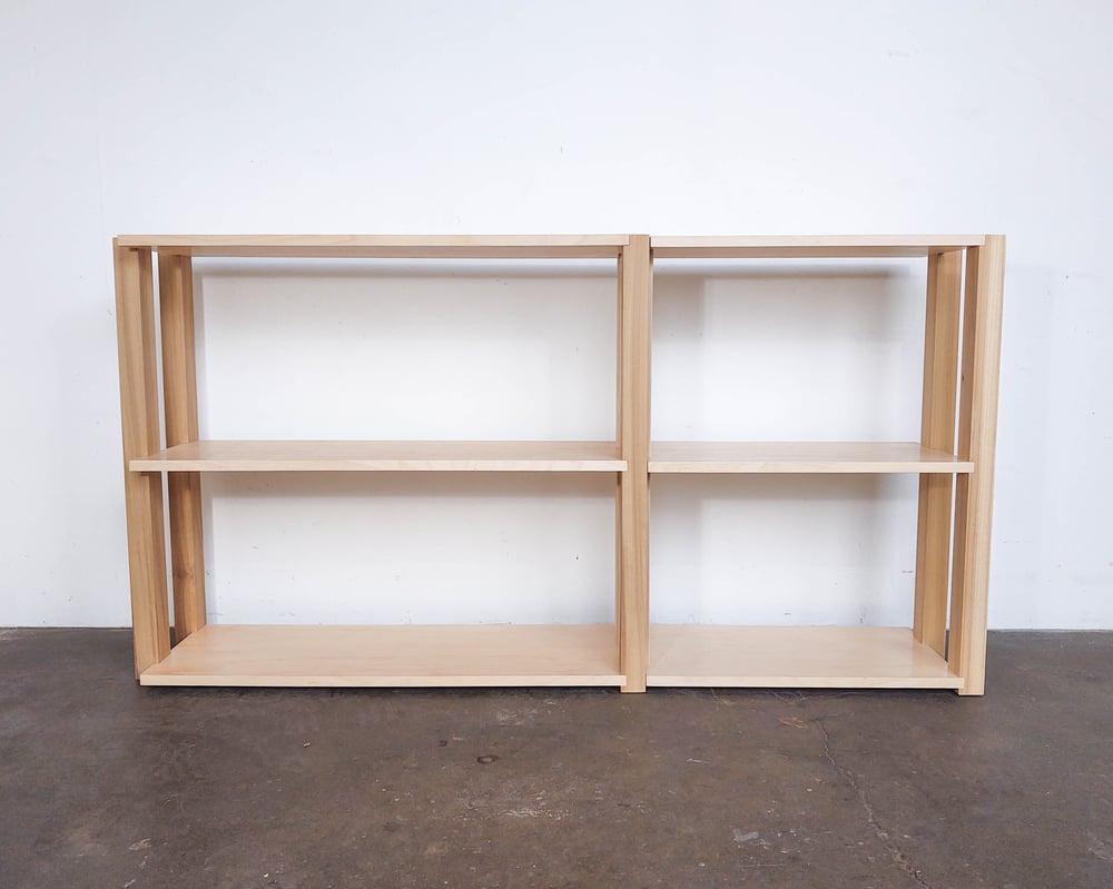 "Image of 60"" Modular Two-Shelf Set 'The Array System' by Iridium Interiors"