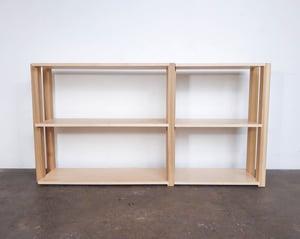 "60"" Modular Two-Shelf Set 'The Array System' by Iridium Interiors"