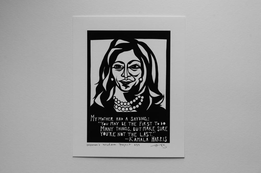 Image of Benefit Women's Wisdom Project Print: Kamala Harris