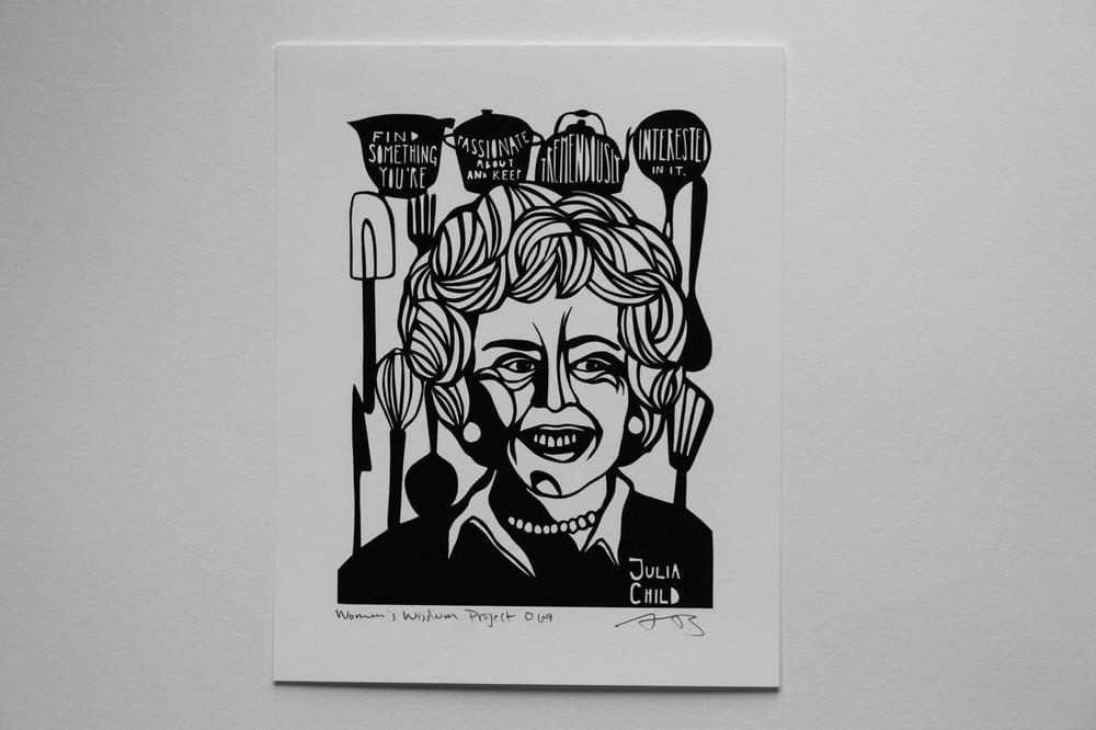 Image of Benefit Women's Wisdom Project Print: Julia Child