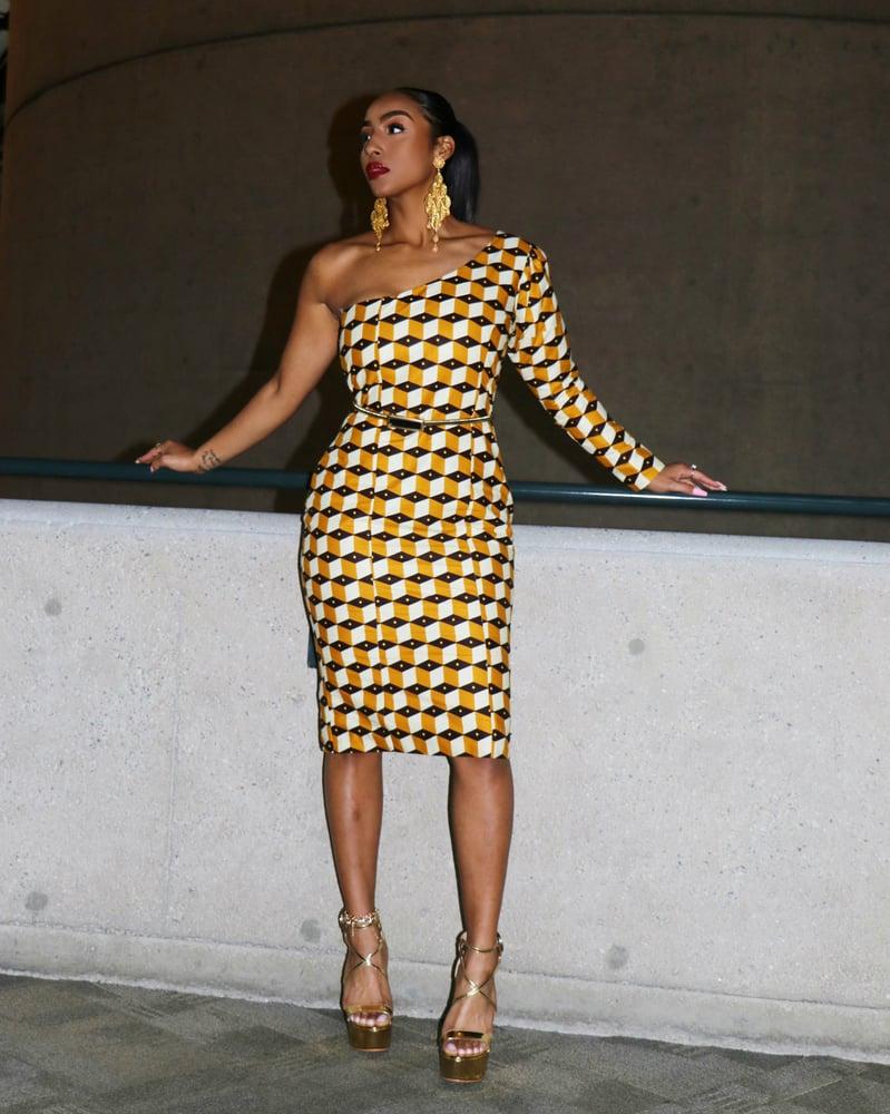 Image of The Ashanti dress - golden