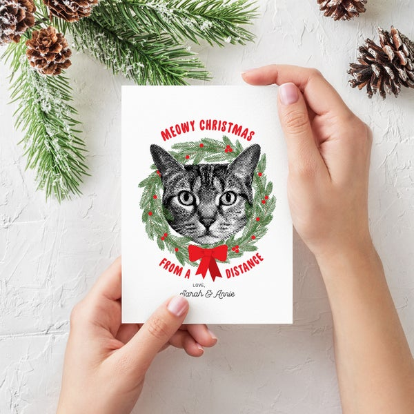 Image of Custom Pet Holiday Cards - Custom Pet Greeting Cards
