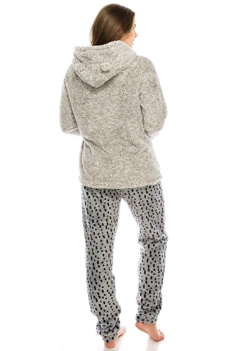 #Wildin Fuzzy Hooded Pajamas