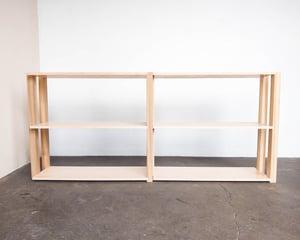 "72"" Modular Two-Shelf Set 'The Array System' by Iridium Interiors"