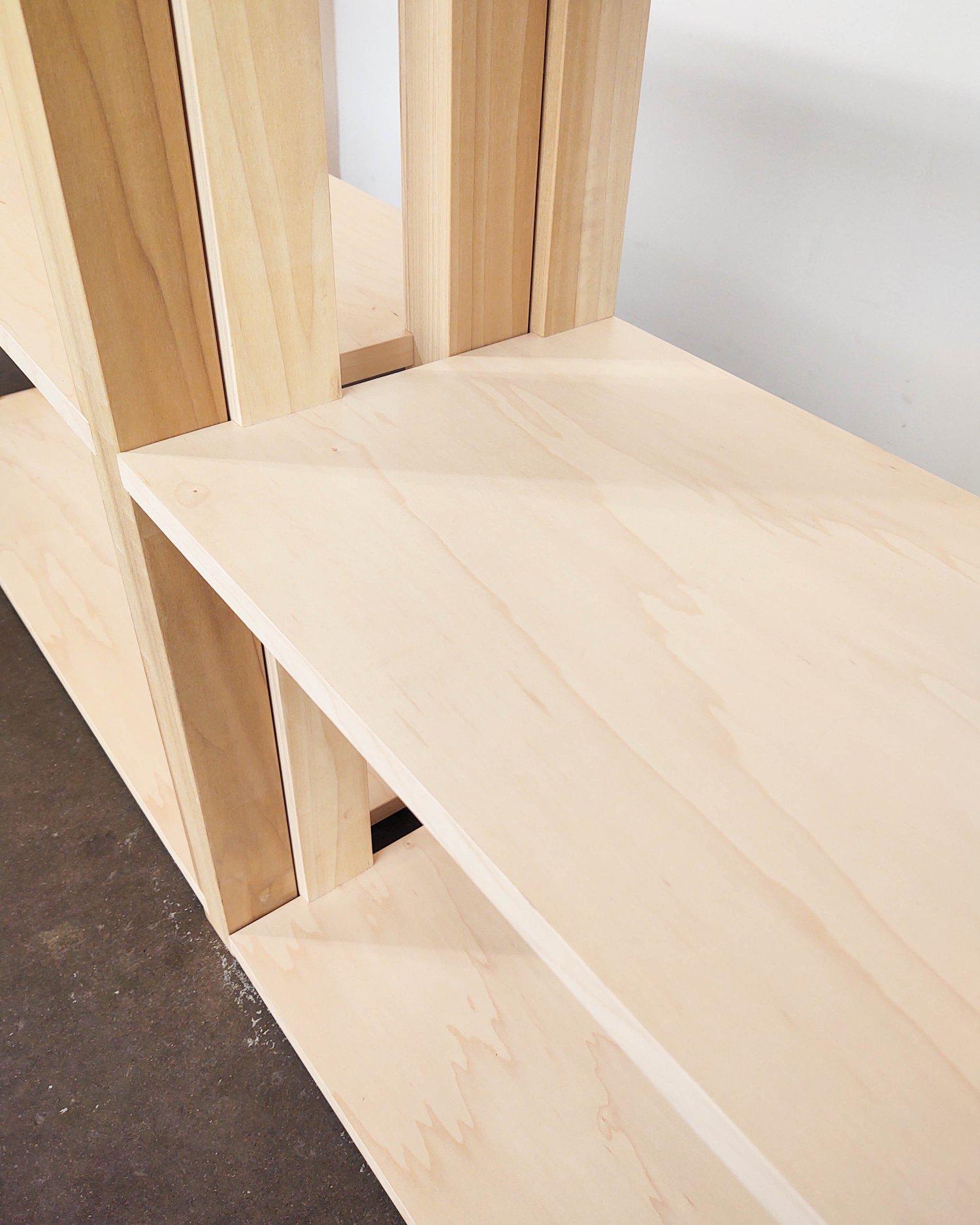 "Image of 72"" Modular Two-Shelf Set 'The Array System' by Iridium Interiors"