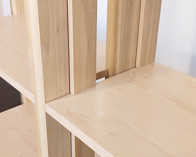 "Image of 48"" Modular Two-Shelf Set 'The Array System' by Iridium Interiors"