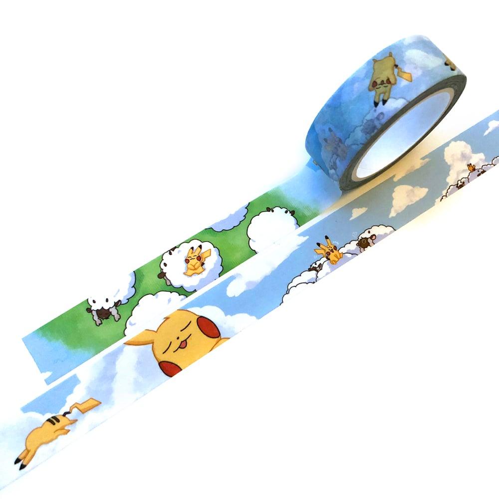 Image of Pokemon Napping Pikachu Washi Tape