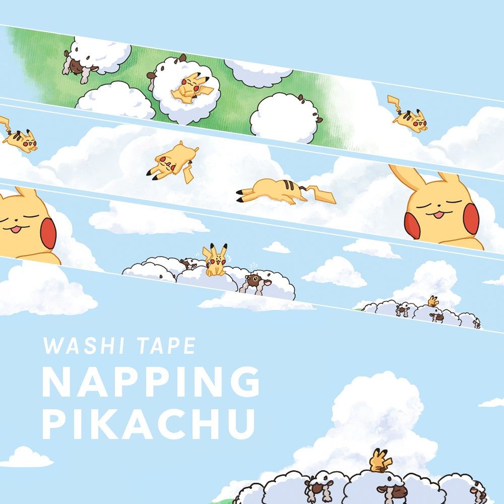 Image of Pokemon Napping Pikachu Washi Tape