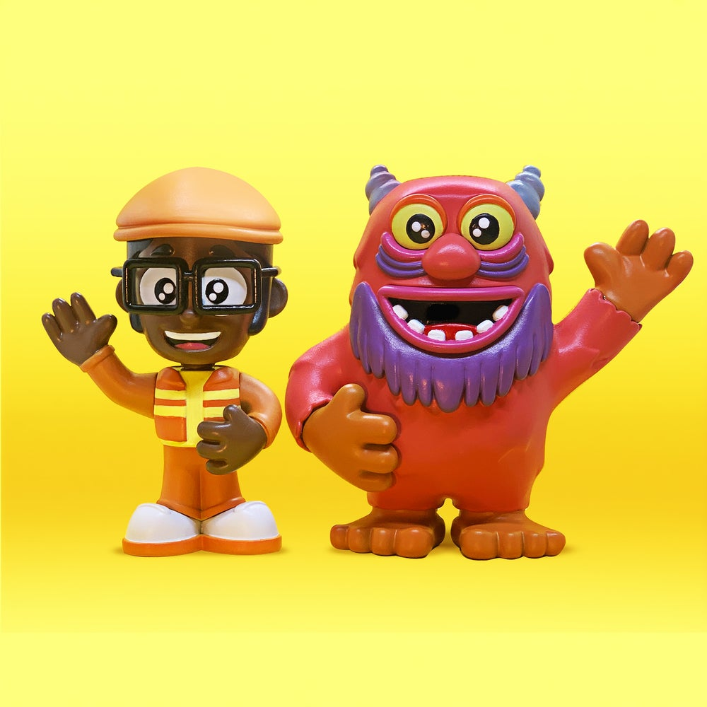 Image of DJ LANCE ROCK AND CECIL RESIN STATUES