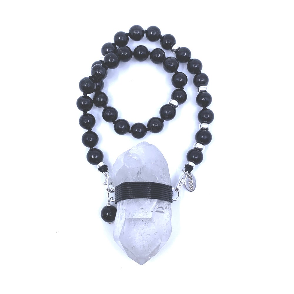 Image of New! Shungite Choker 33 with Brazilian Quartz