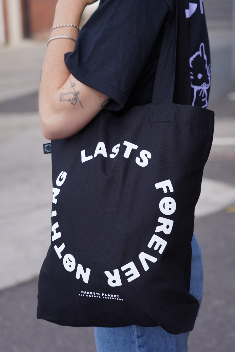 Nothing Lasts Forever Tote Bag (Black)