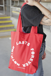 Nothing Lasts Forever Tote Bag (Red)