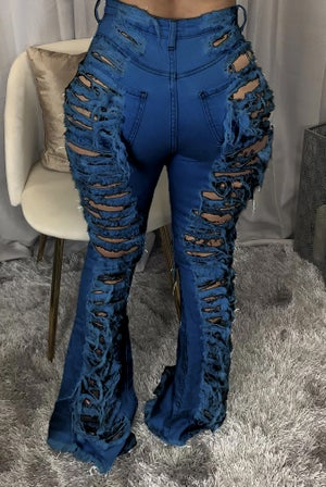 "Image of ""From The Back"" Distressed Jeans"