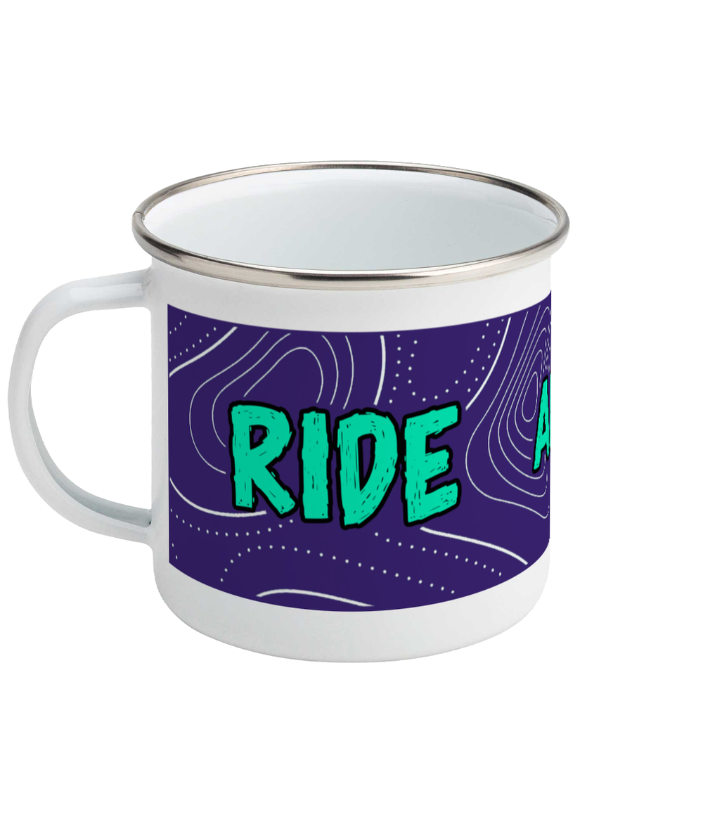 Ride And Seek Enamel Mug