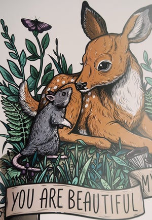 Image of My Deer A3 Poster Print - more colours available