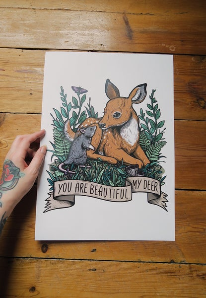Image of My Deer A3 Poster Print