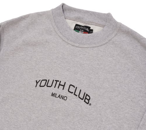 Image of Company Logo Crewneck / Heather Grey