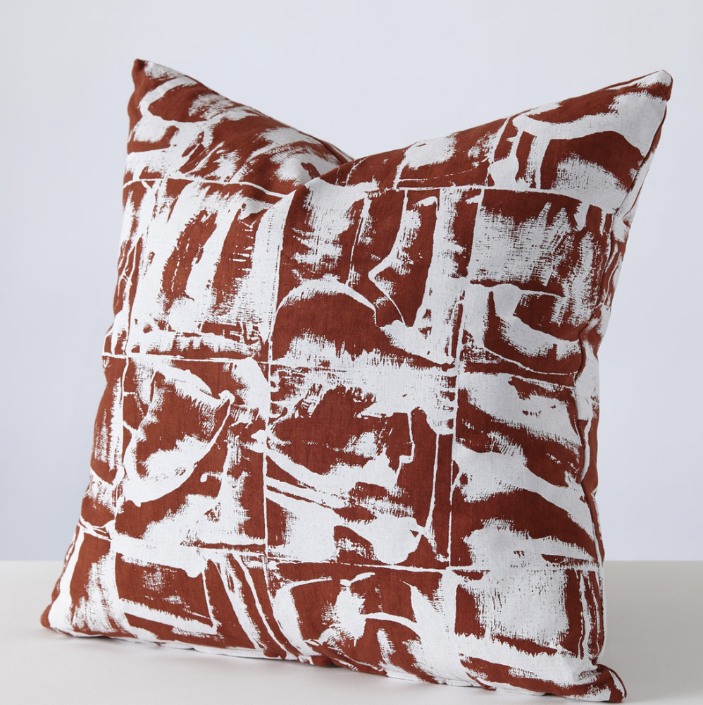 Image of Bloc cushion in 3 colour-ways by Stoff Studio