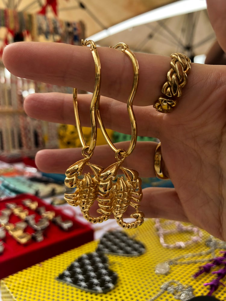 Image of SCORPION HEART HOOPS