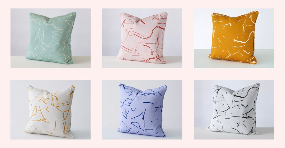 Image of No 2 cushion by Stoff Studios (available in 6 colourways)