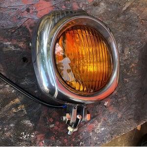 Image of Cast aluminium amber headlight