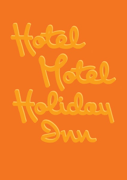 Image of HOTEL MOTEL HOLIDAY INN - Signed, digital print