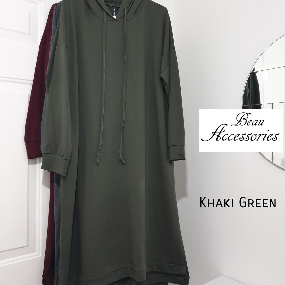 Image of  Plain Overhead Hoodie Dress