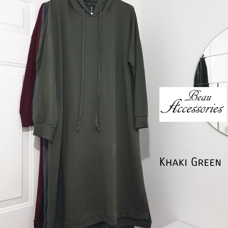 Image of  Plain Overhead Hoodie Dress
