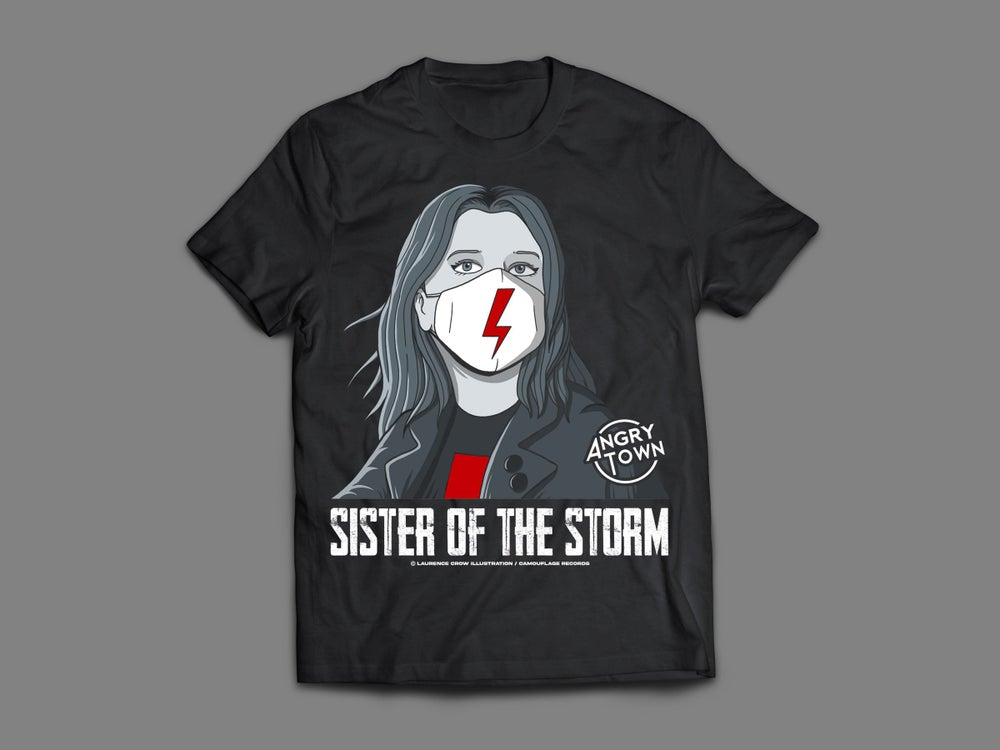 Image of ANGRY TOWN - 'SISTER OF THE STORM' WOMEN'S T-SHIRT (SIZE SMALL)