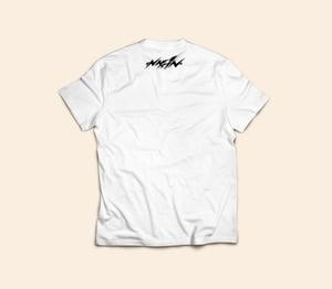Image of T- shirt Naffinusi White logo Violet/orange