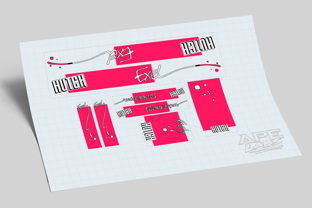 Image of Hutch Exel decal set