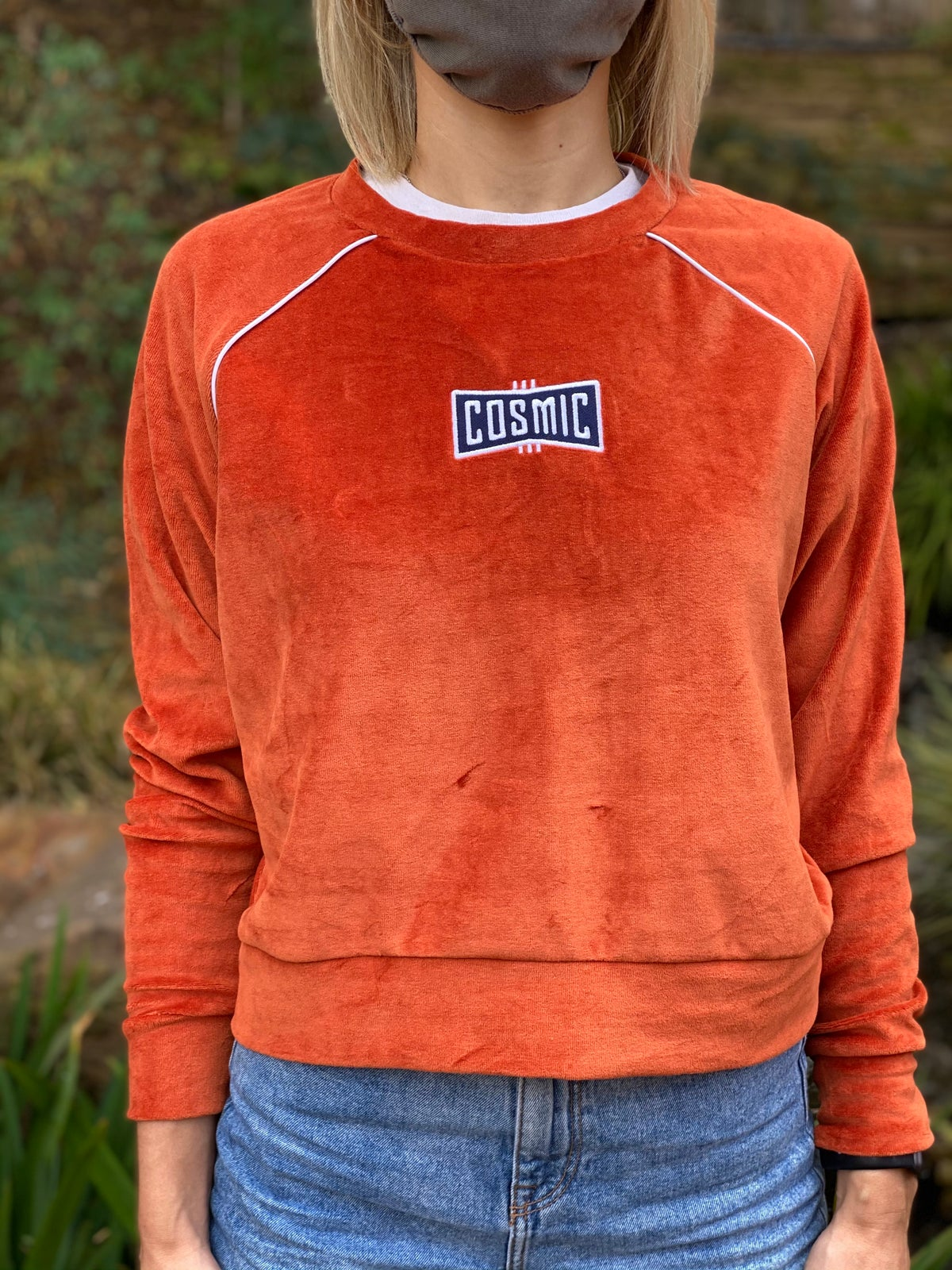 Cosmic Velour Sweatshirt - Orange
