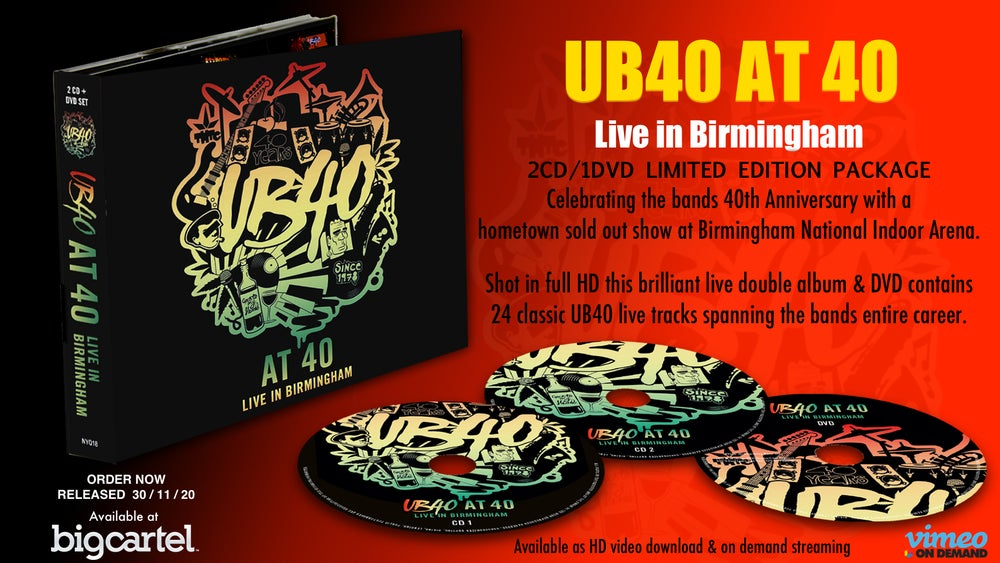 UB40 AT 40 Limited Edition Triple Disc 2CD / 1DVD       .... FREE same day  shipping