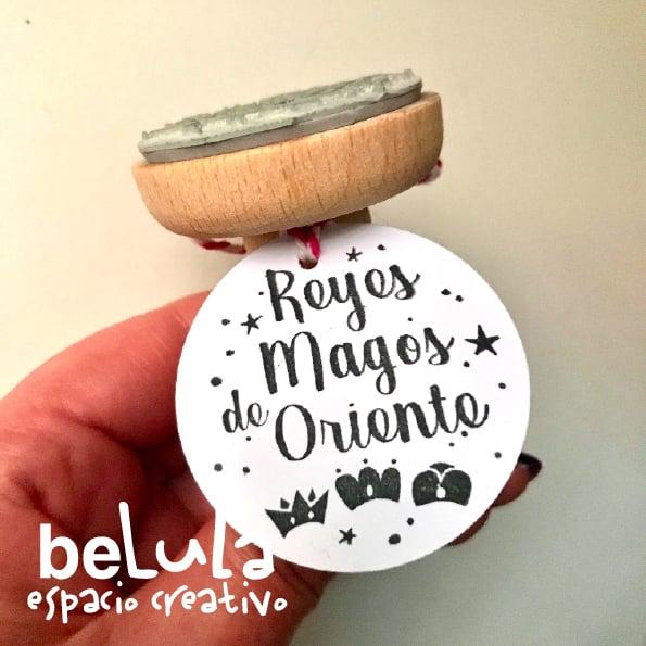 Image of Sello tinta Reyes Magos de Oriente tipografía