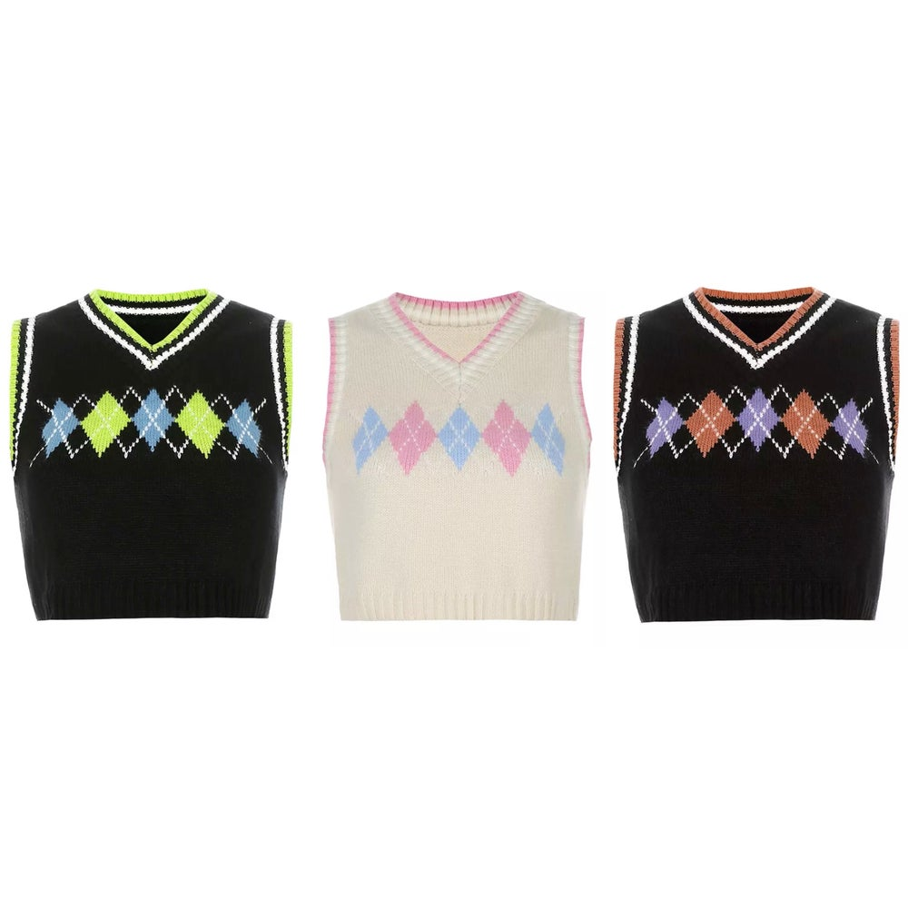 Image of Posh Argyle Vests
