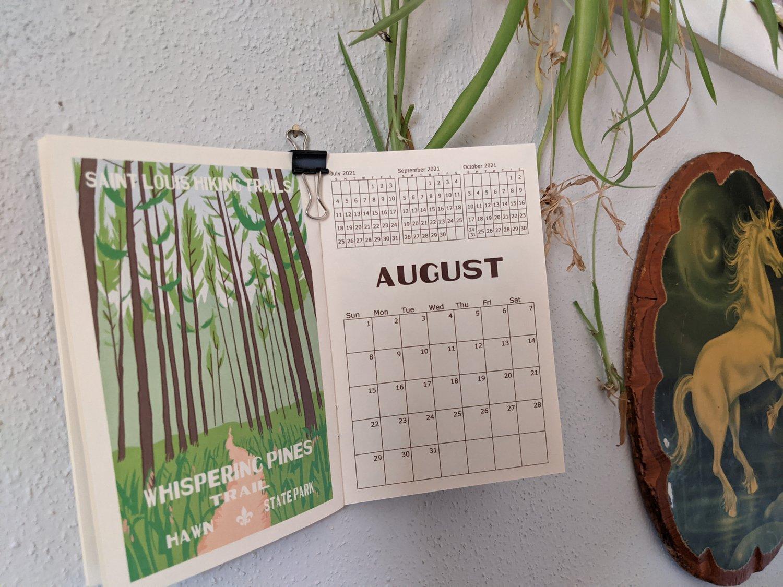 Image of St. Louis Hiking Trails 2021 Calendar