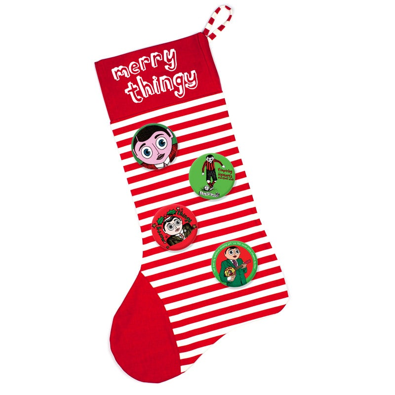 Image of Merry Thingy Xmas Stocking/Badge set