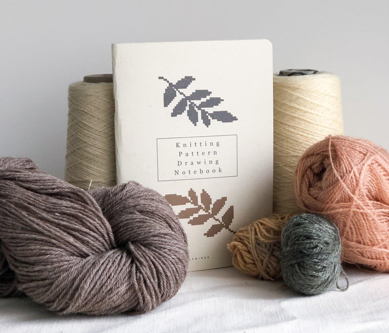 Image of Knitting Pattern Drawing Notebook