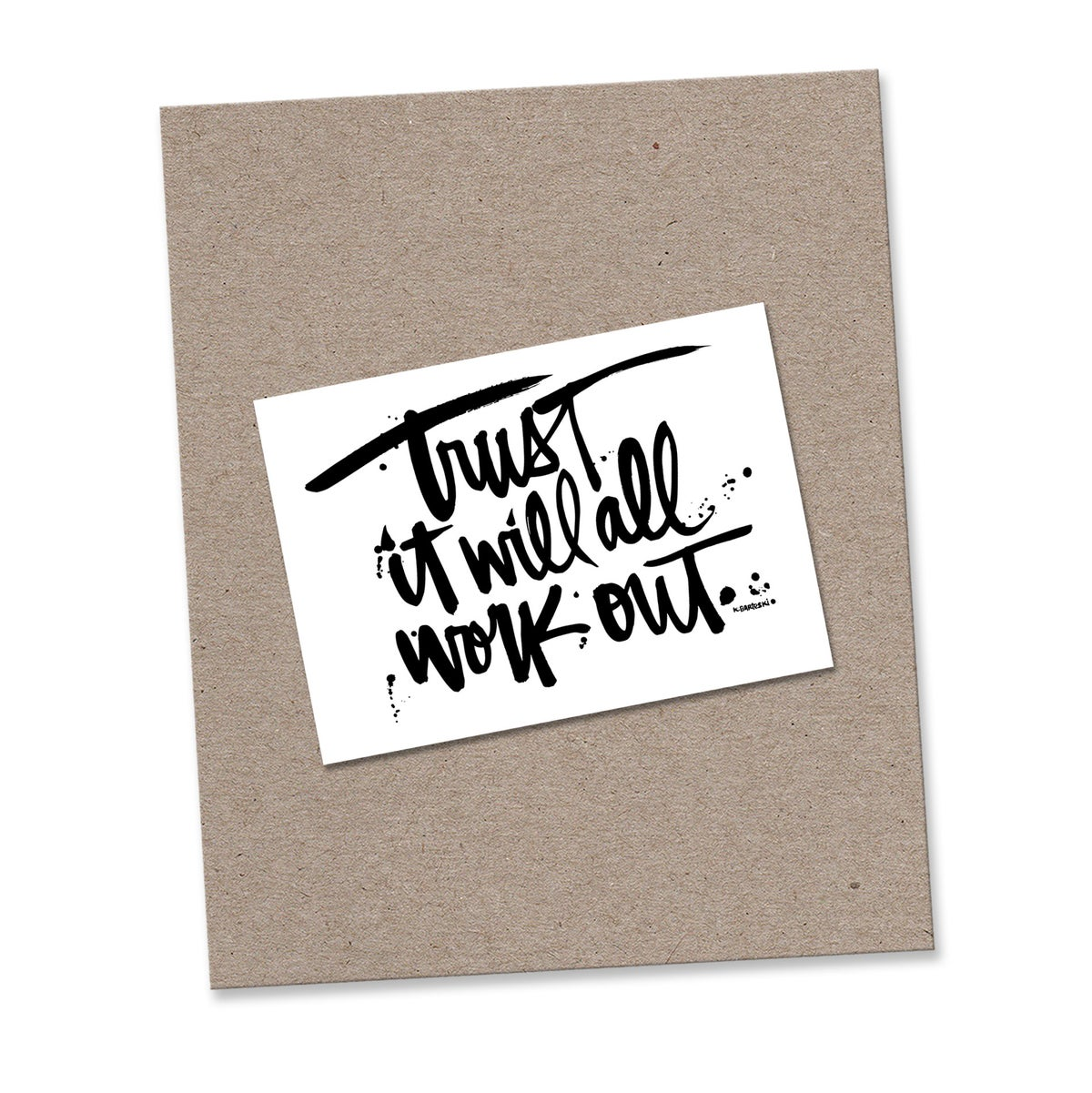 Image of TRUST mini print