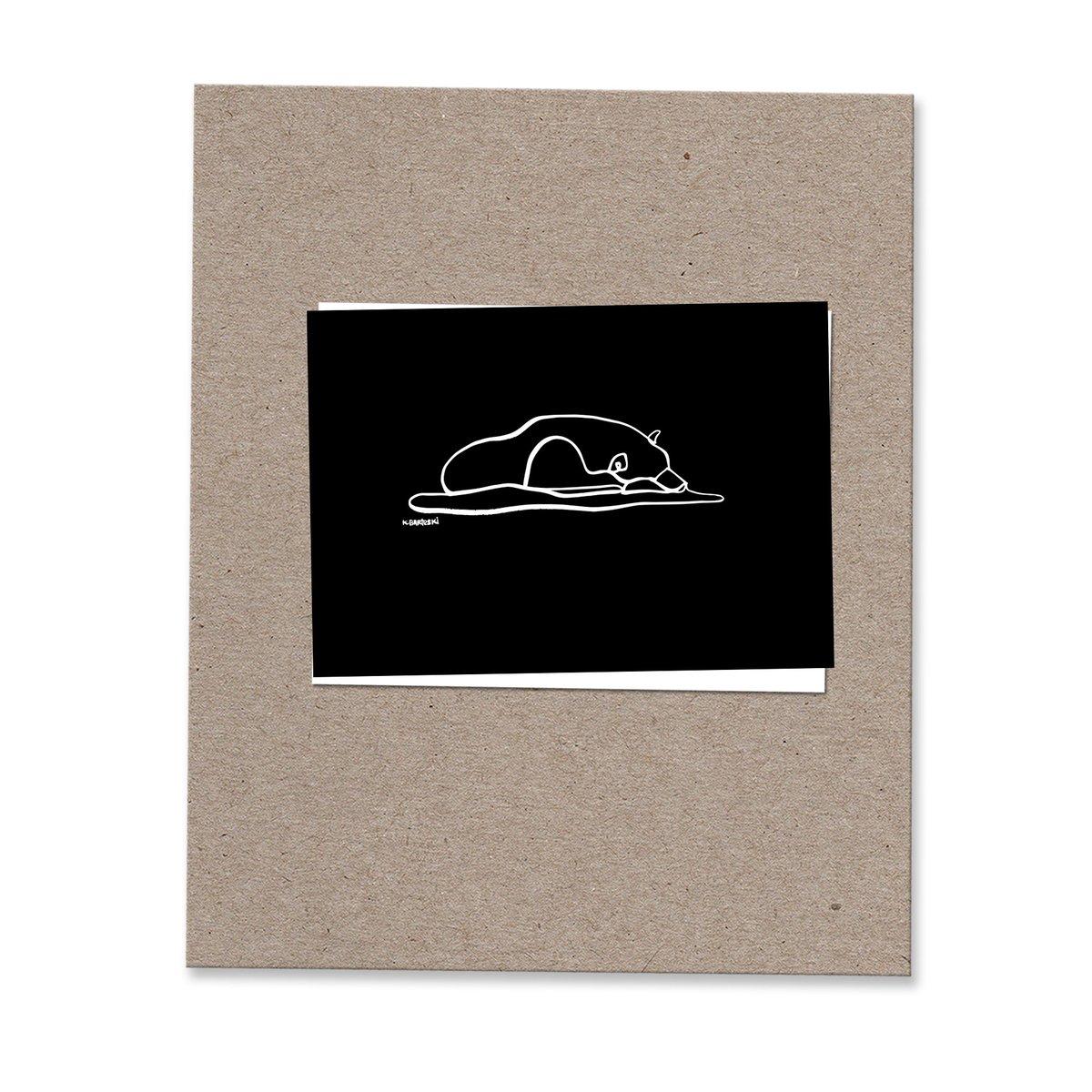 Image of SLEEPING BEAR mini print