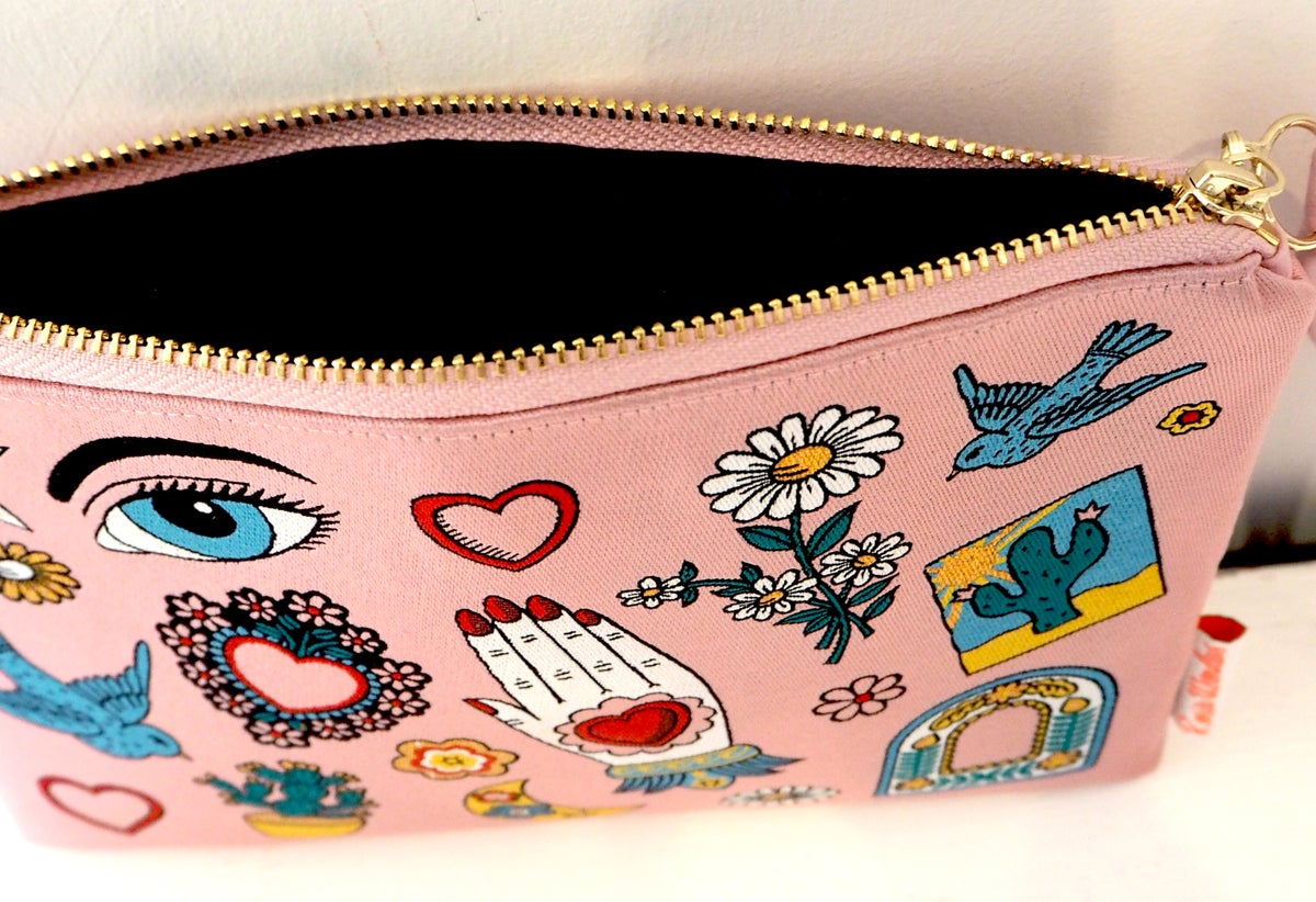 Mexico Woven Wristlet Clutch Bag - As featured in Grazia Valentines Gift Guide