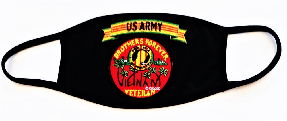 Image of Vietnam Veteran US Army Brothers Forever Face Mask