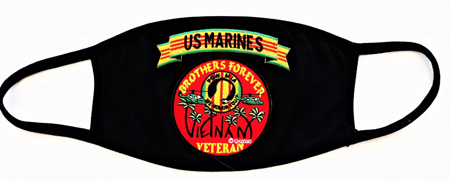 Image of Vietnam Veteran US Marines Brothers Forever Face Mask