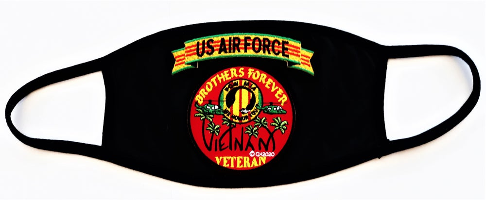 Image of Vietnam Veteran US Air Force Brothers Forever Face Mask