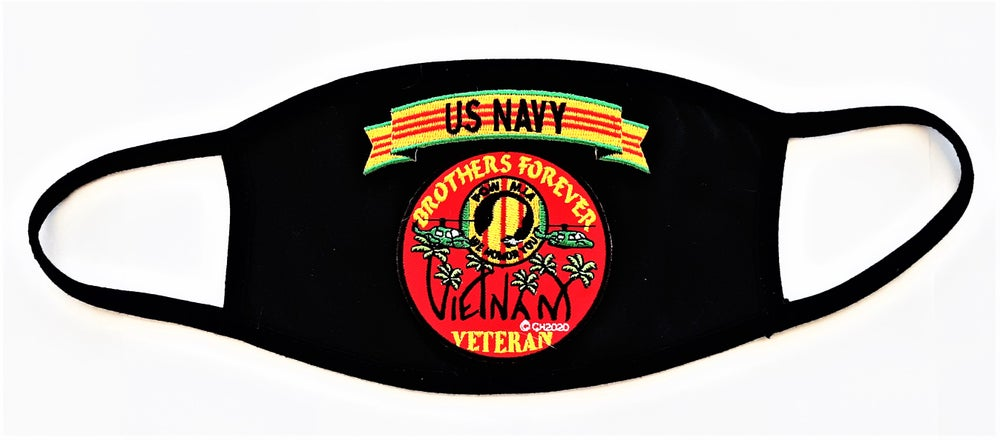 Image of  Vietnam Veteran US Navy Brothers Forever Face Mask