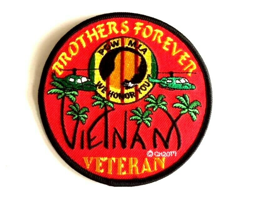 "Image of Vietnam Veteran Brothers Forever 4"" Patch"
